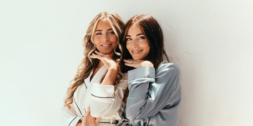 Systrarna Janni och Michaela Delér