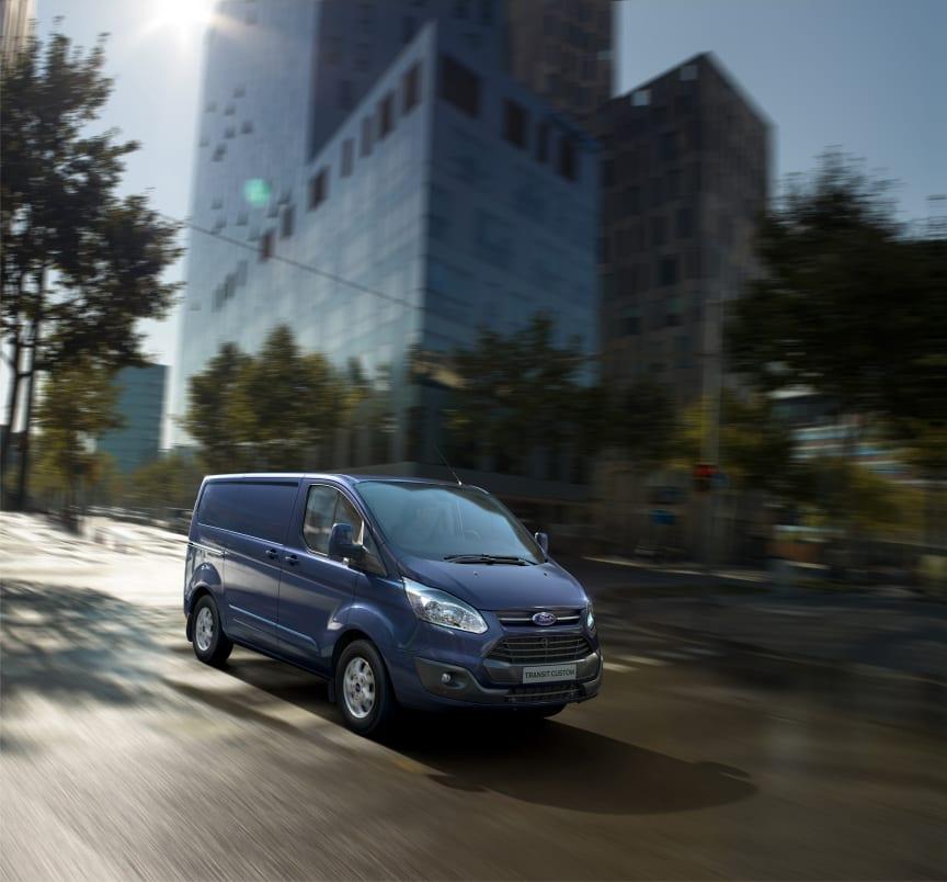 Nye Ford Transit Custom nylig kåret til International Van of the Year.