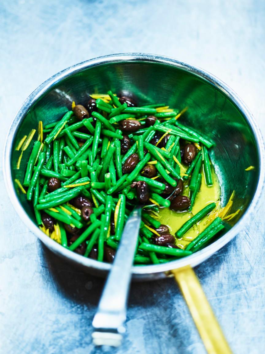 Haricot verts, oliver