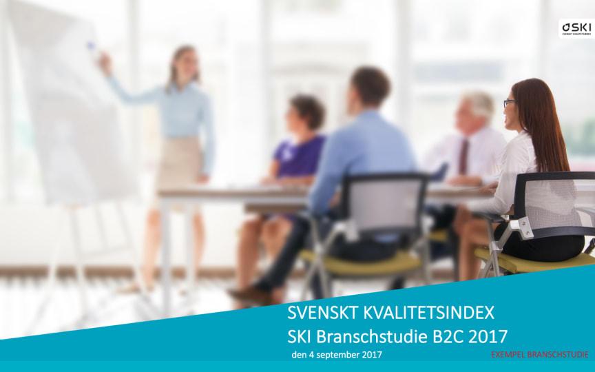Exempel på en branschstudie från Svenskt Kvalitetsindex.