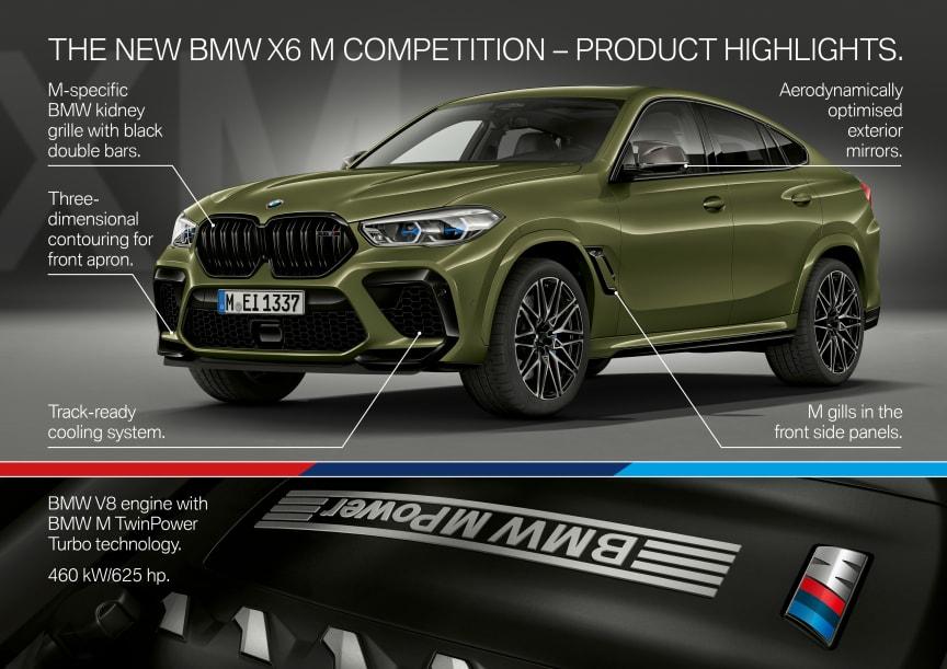 Nya BMW X6 M och BMW X6 M Competition