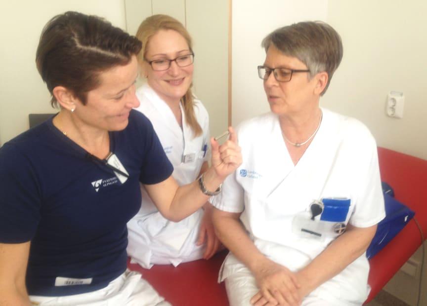 Första gången en Reveal LINQ hjärtmonitor används på patient i Sverige