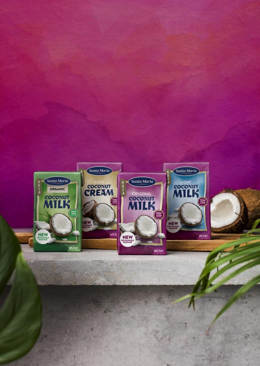 Santa Maria Kokosmjölk och Kokosgrädde