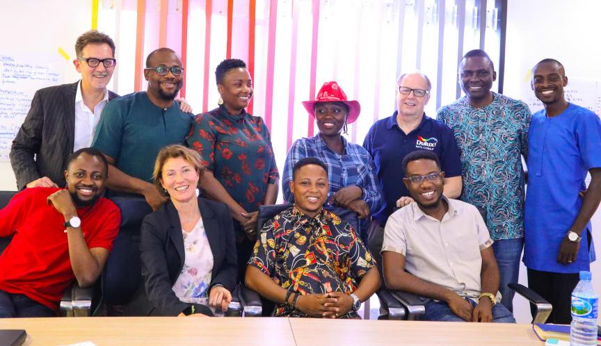 The amazing team at CAP Plc in Nigeria