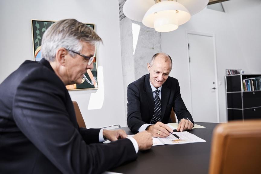CEO Jens Lundager (left) and Managing Director Henrik Andersen (right)