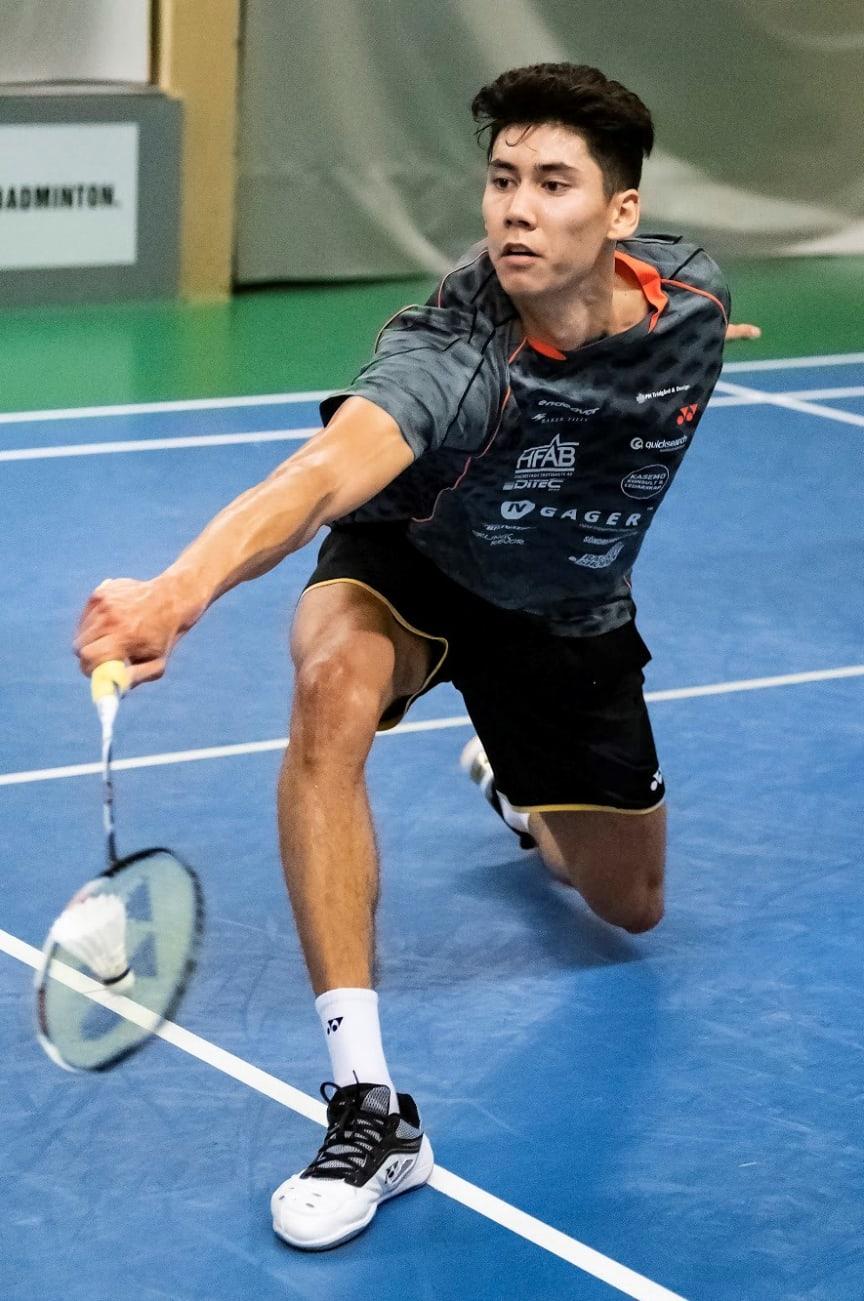 Felix Burestedt spelar Badminton SM. Foto Stefan Persson