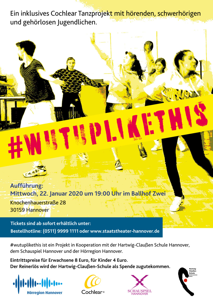Inklusives Cochlear Tanzprojekt: #wutuplikethis