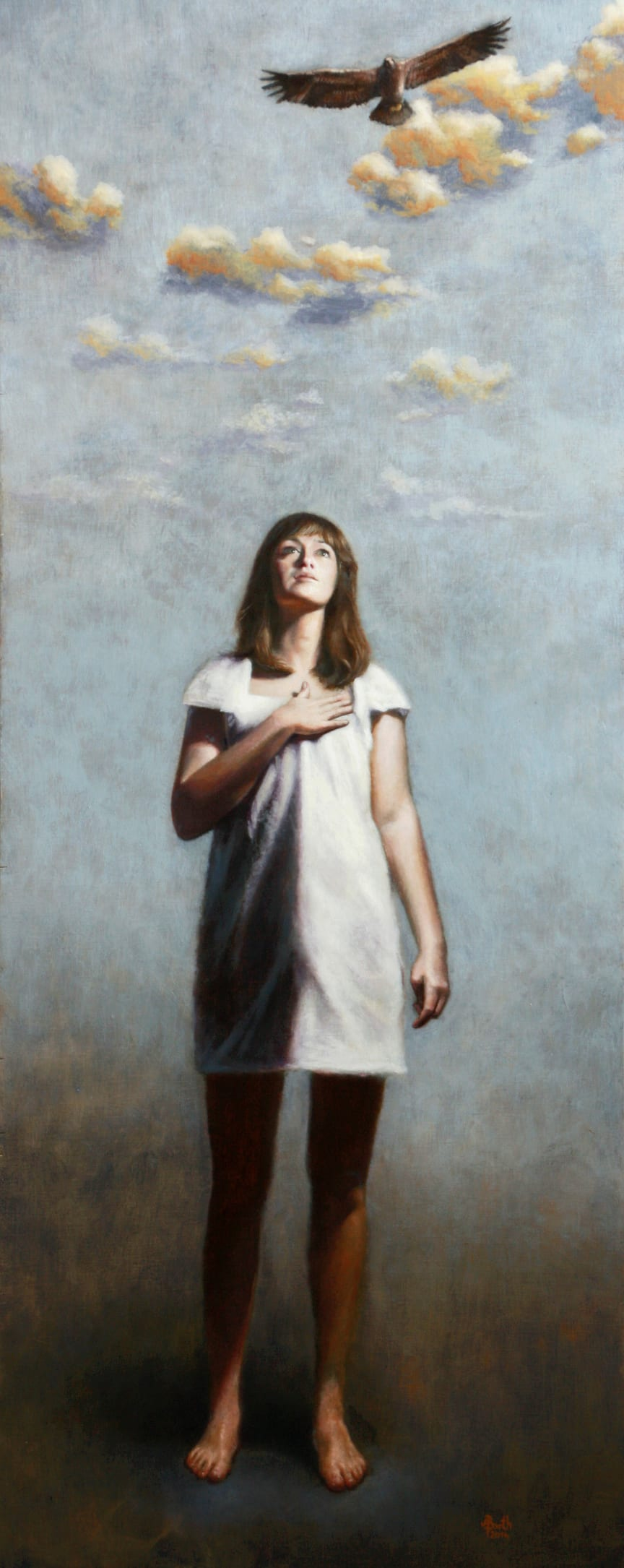 """Kunstwettbewerb """"Malen gegen Eierstockkrebs"""" - Kategorie """"Aufmerksamkeit schaffend"""" - Platz 1, Anja Barth"""