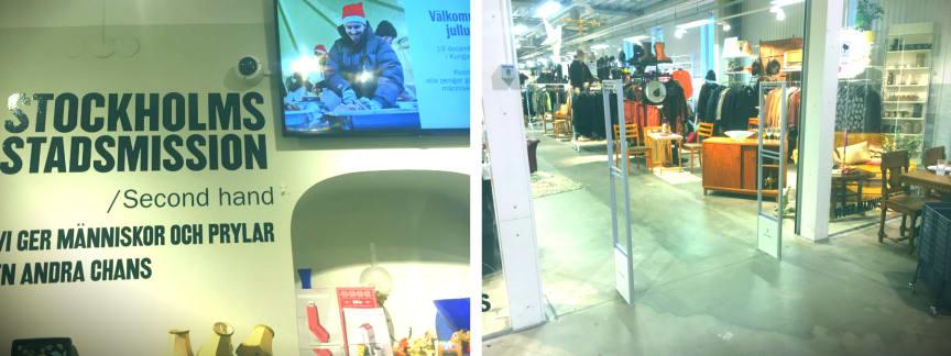Gate Security har tecknat avtal med Stockholms Stadsmission Second hand