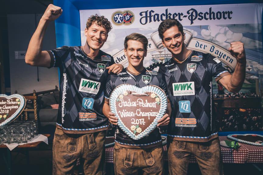 Titelverteidiger 2017 GCDW/WWK Volleys Herrsching