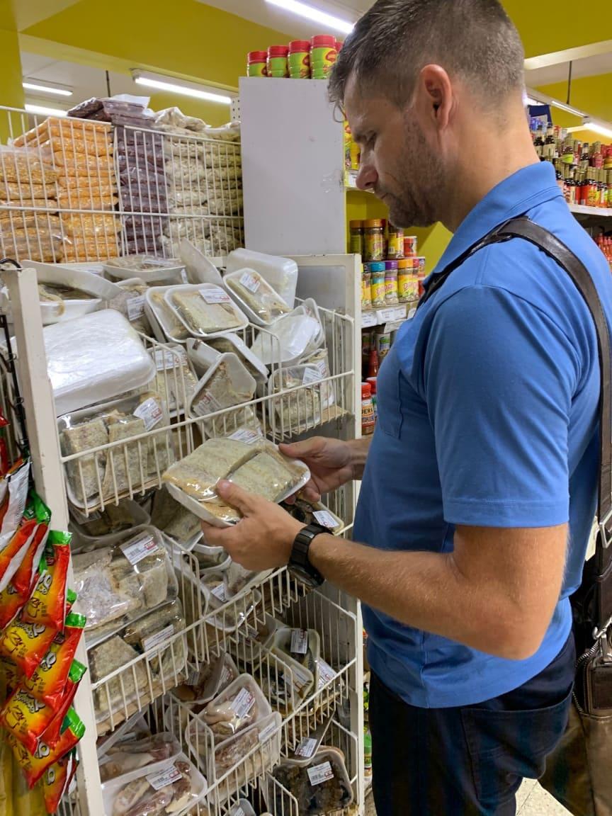 Klippfisk i butikk på Jamaica