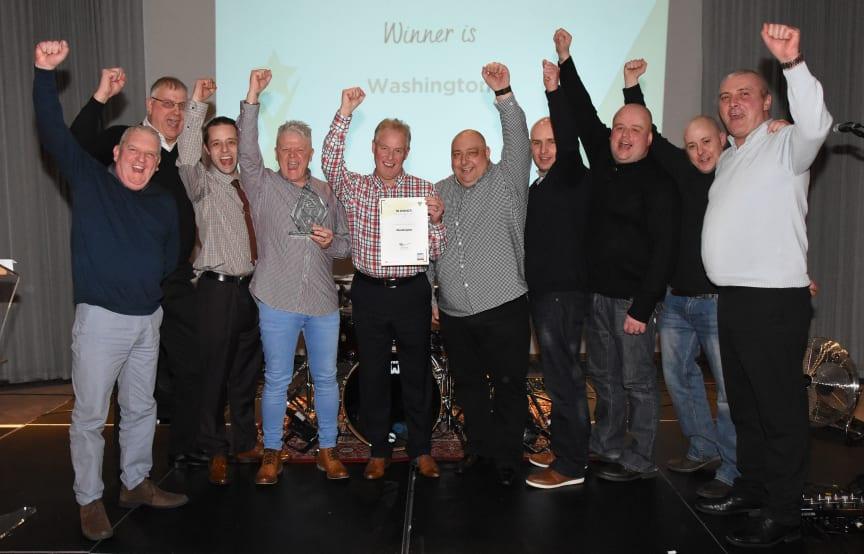 Washington depot team celebrates winning depot of year