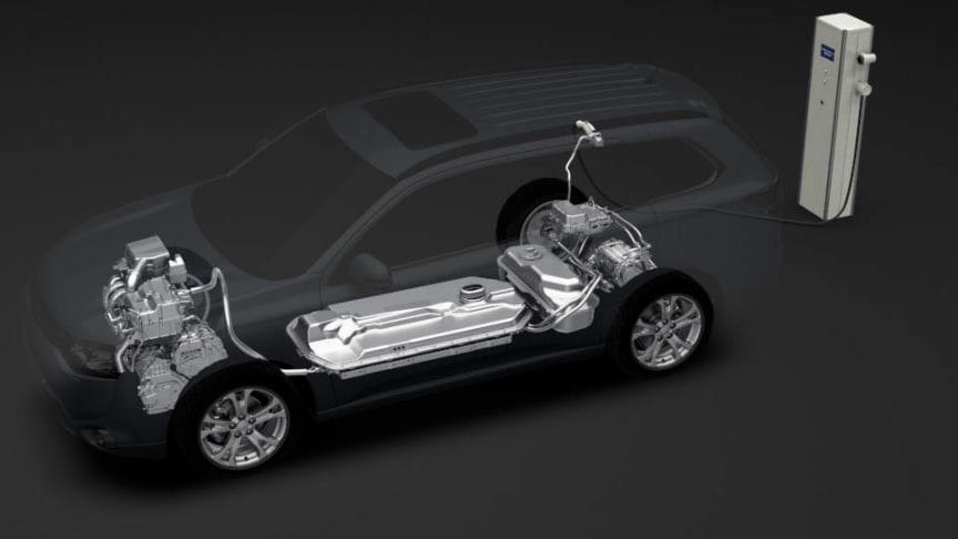 Mitsubishi Outlander Hybrid cutaway view