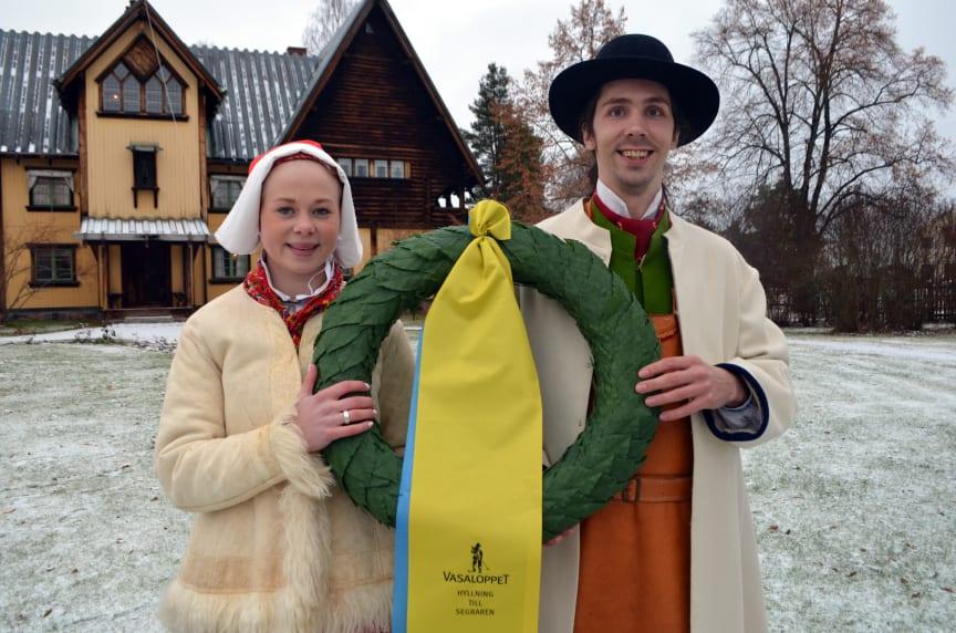 Hanna Eriksson kranskulla och Johan Wellert kransmas i Vasaloppet och Tjejvasan 2016