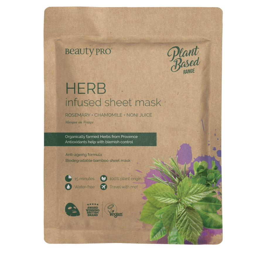 BeautyPro HERB Infused sheet mask