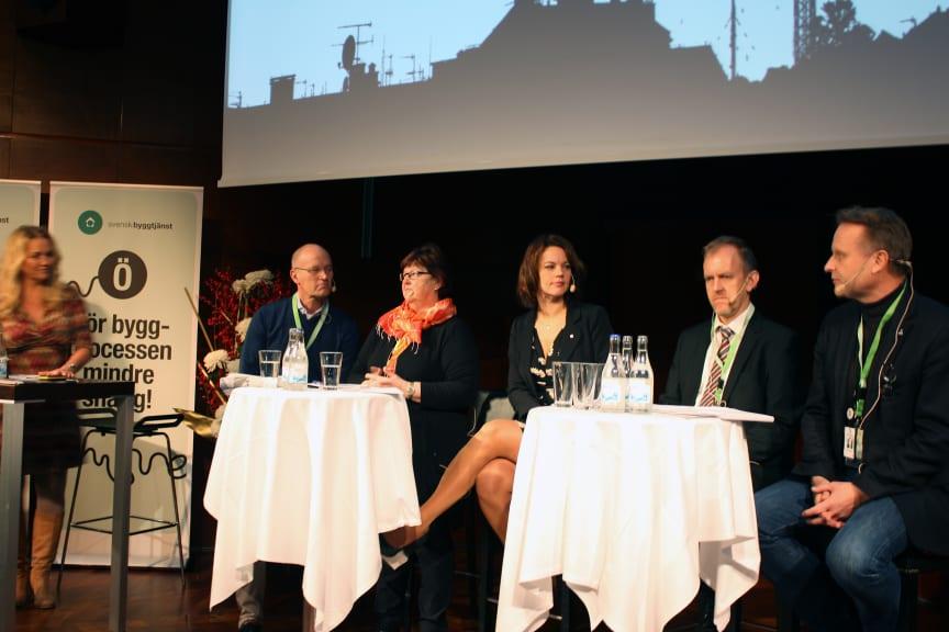 Bostadspolitisk debatt på Samhällsbyggarforum
