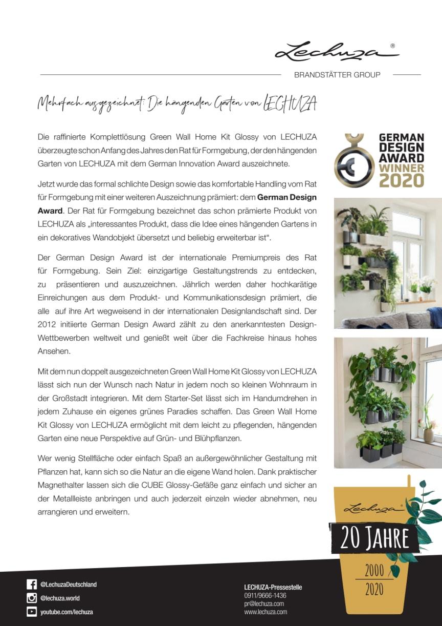 Mehrfach ausgezeichnet: Die hängenden Gärten von LECHUZA