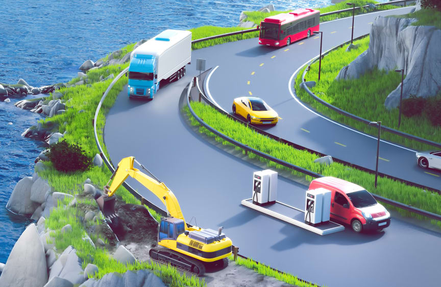 Illustrasjon landtransport