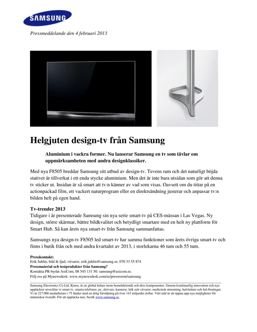 Helgjuten design-tv från Samsung