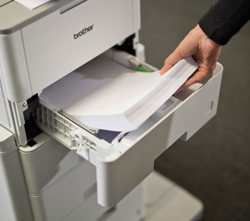 Papirskuffe i Brother-printer