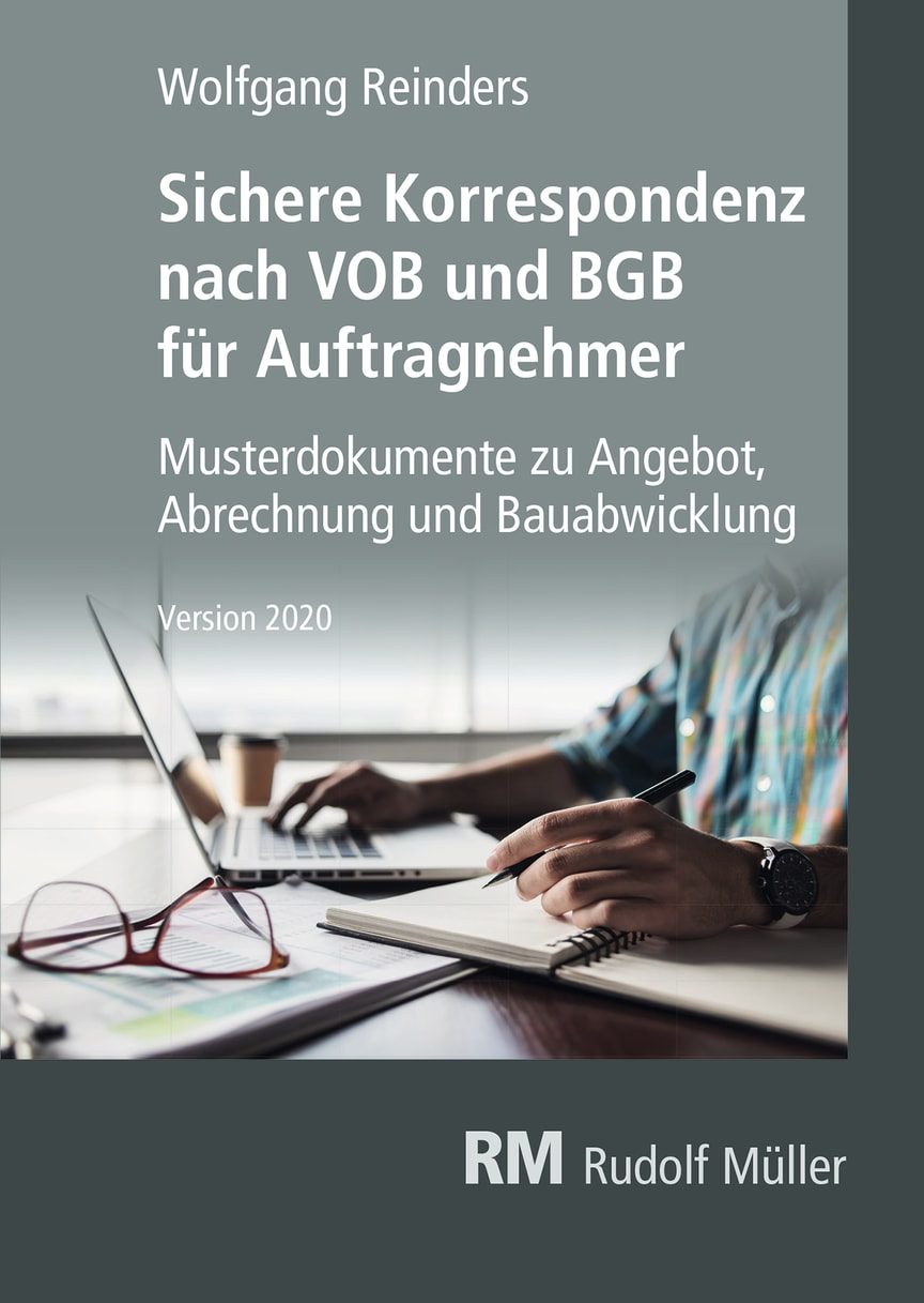 Sichere Korrespondenz nach VOB und BGB für Auftragnehmer 2020 (2D/tif)