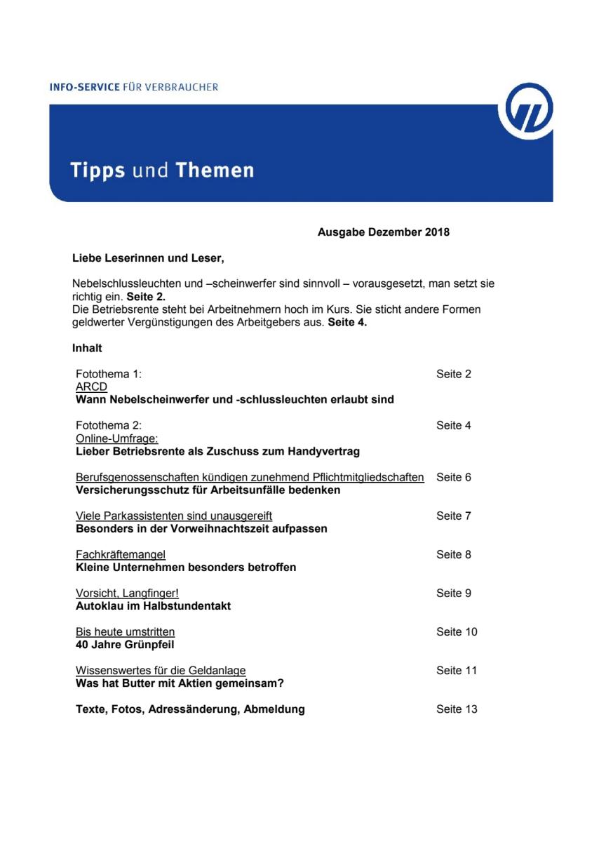 Tipps und Themen 12-2018