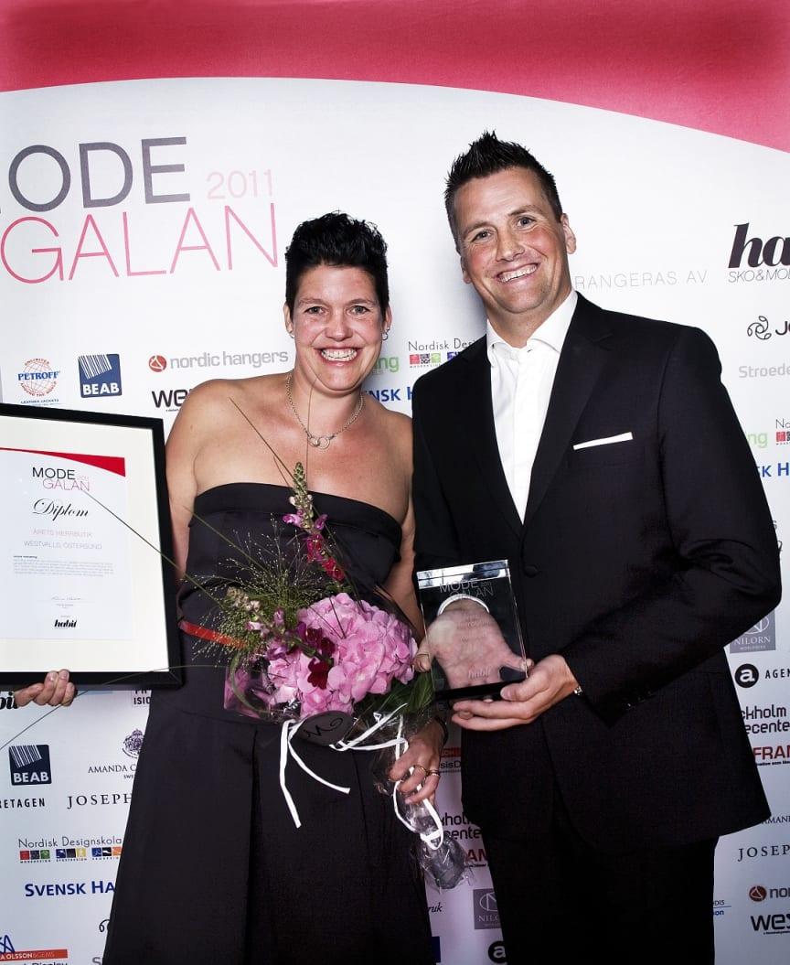 Vinnare Årets Herrbutik, Modegalan 2011