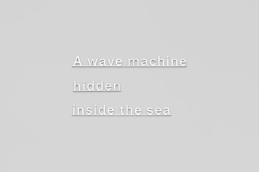 Katie Paterson - A Wave Machine Hidden Inside the Sea