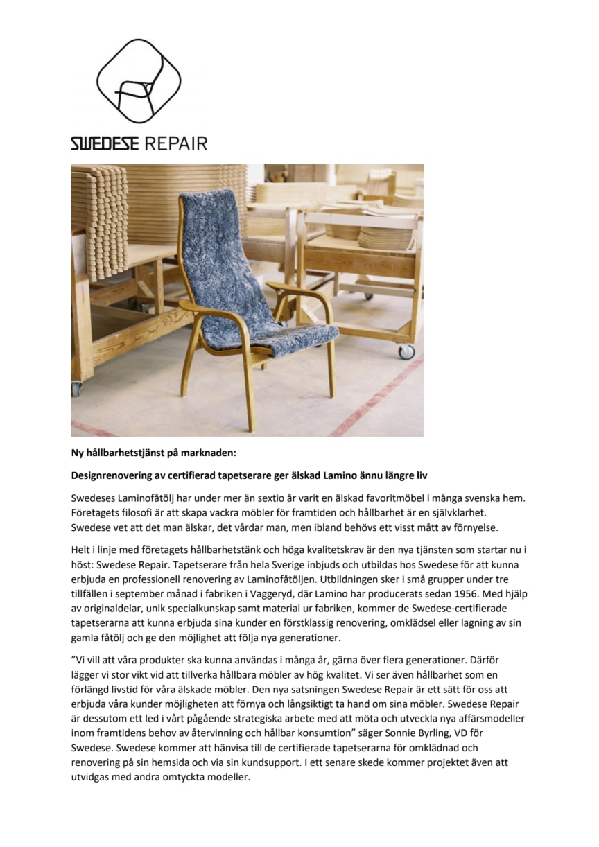 Swedese repair
