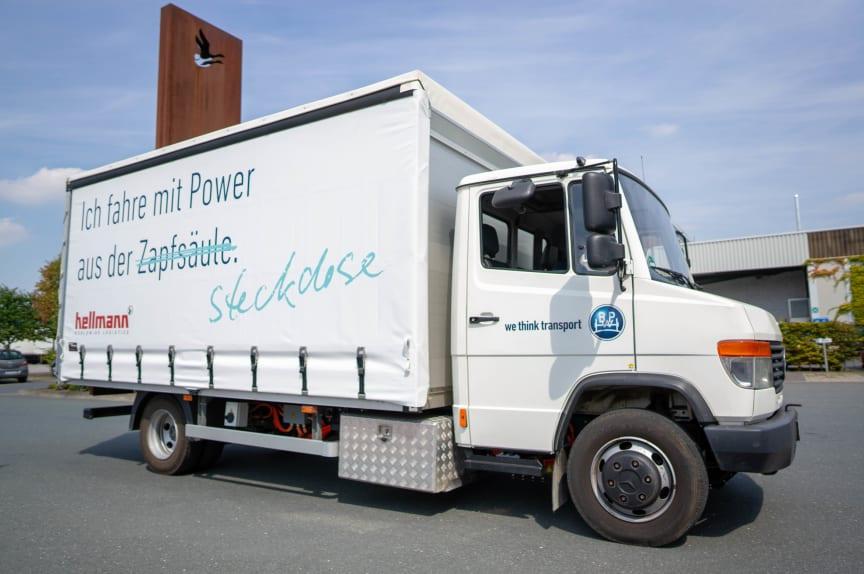 eTransport Versuchsfahrzeug