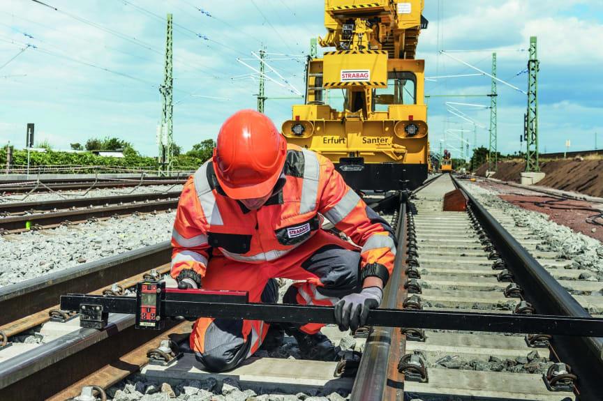 STRABAG Rail, Gleisnetzausbau in Ostdeutschland