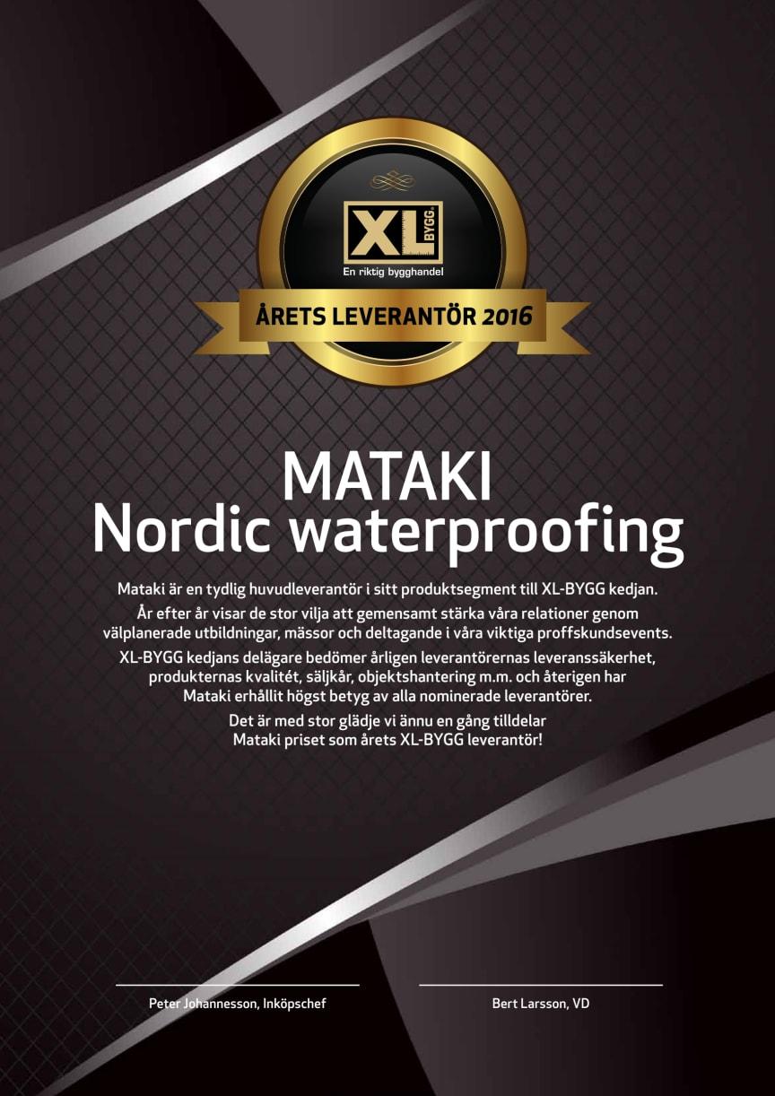 Årets XL-BYGG leverantör 2016