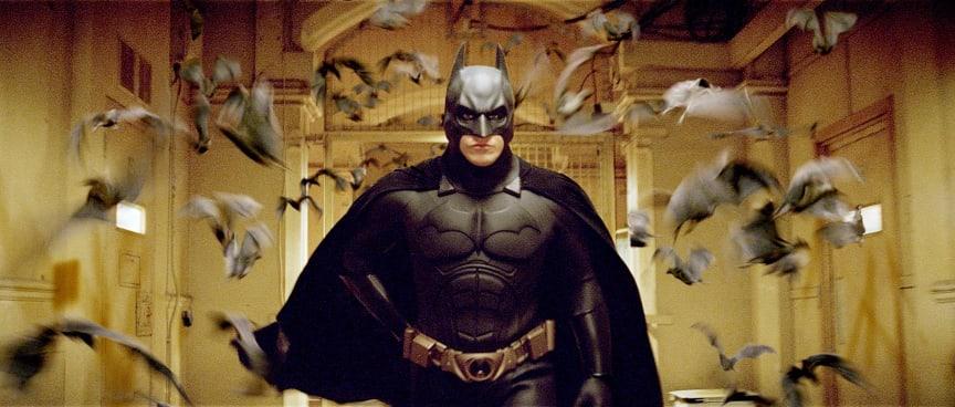 Christian Bale spiller den kappeklædte superhelt i Christopher Nolans prisbelønnede actioneventyr Batman Begins