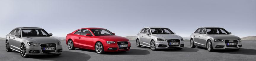 Modelrækkerne A4, A5 og A6 lanceres særligt effektive motorvarianter