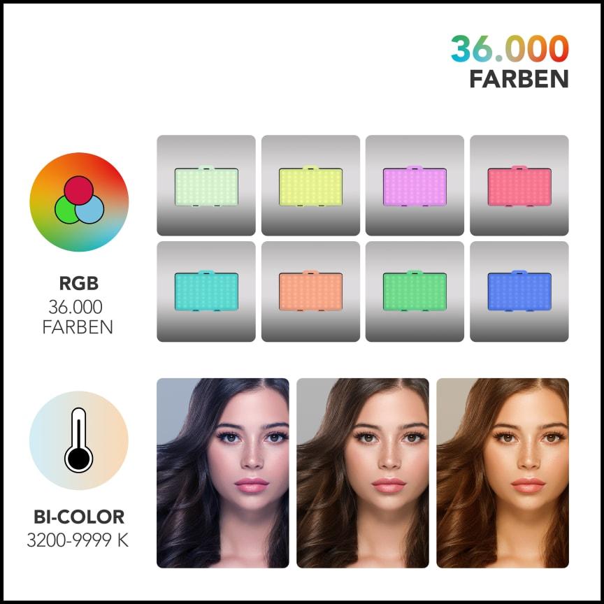 Walimex pro Rainbow Pocket RGBWW 23036 20 Farbe
