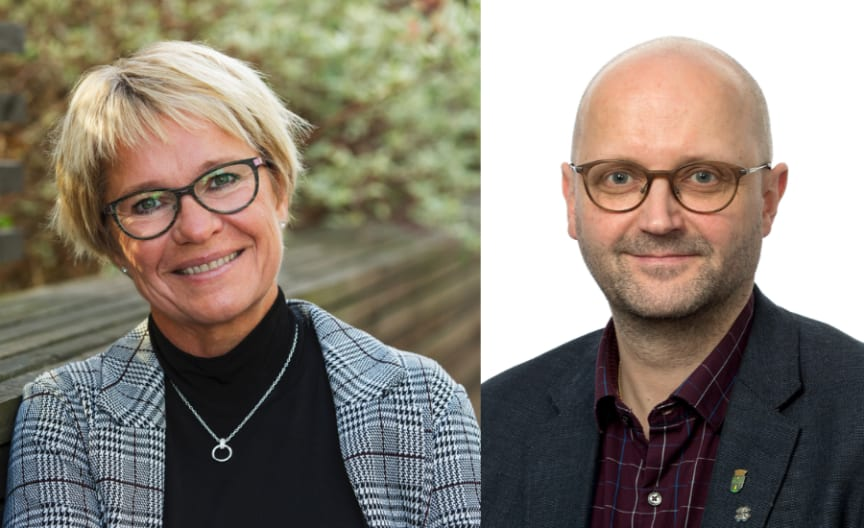 Yvonne Westerlund, affärsutvecklare Riksbyggen och Sven Tornberg, kommunalråd, Haparanda stad.