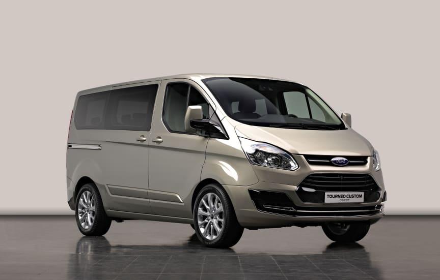 konceptbilen Ford Tourneo Custom - snett framifrån
