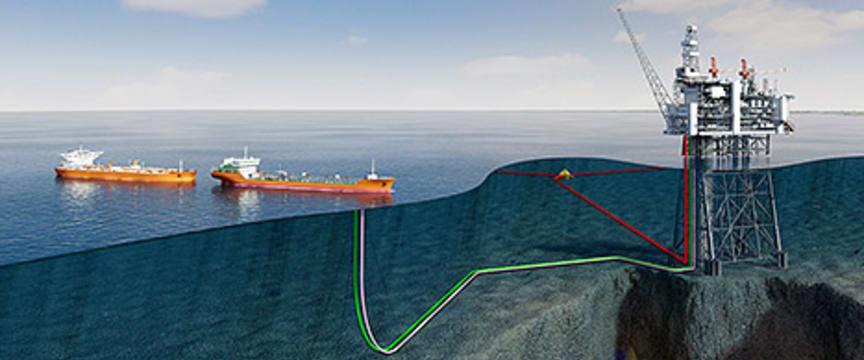 Illustrasjon av Statoils Mariner-felt i britisk sektor av Nordsjøen.