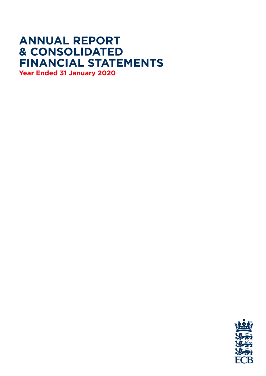 ECB Consolidated Financial Statements 2019-20