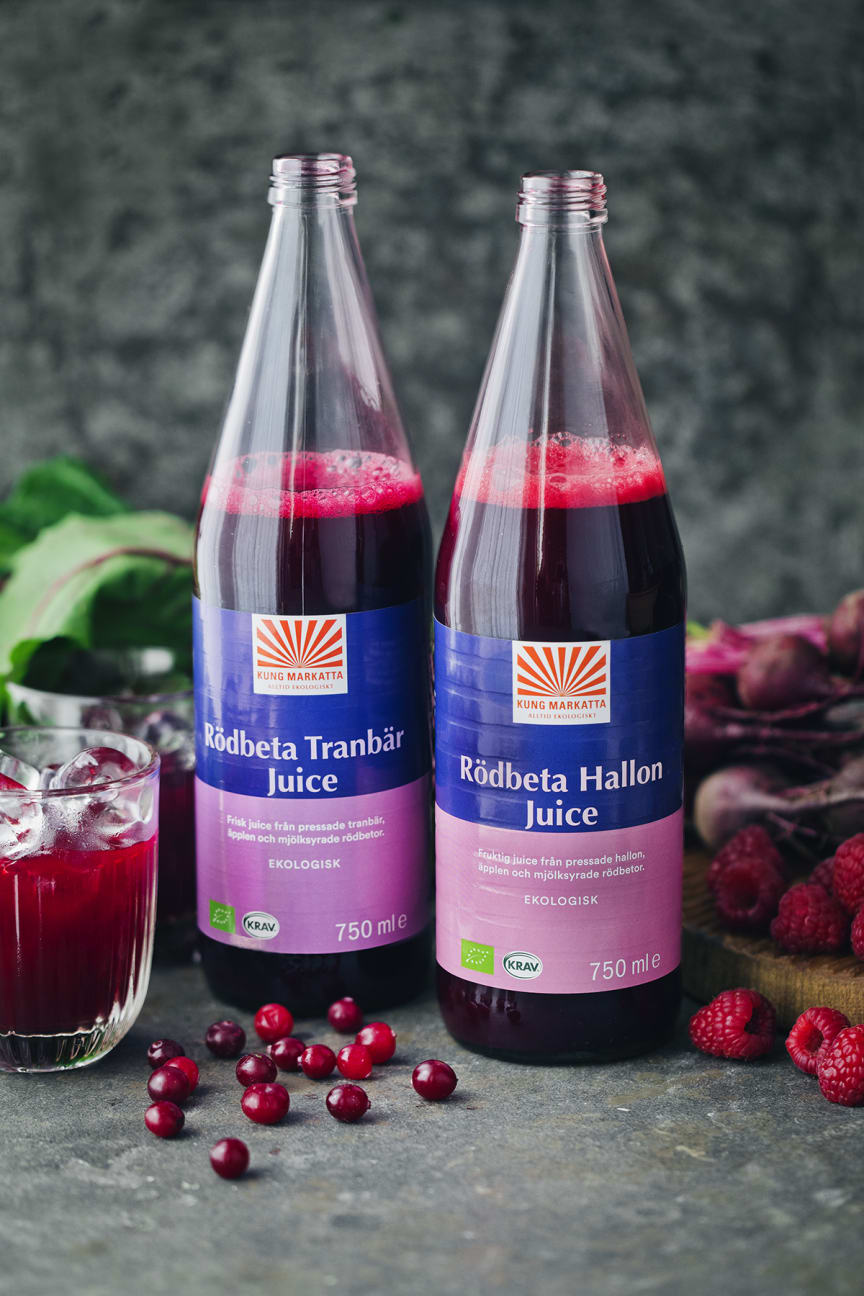 Kung Markatta Rödbeta Hallon & Tranbär Juice