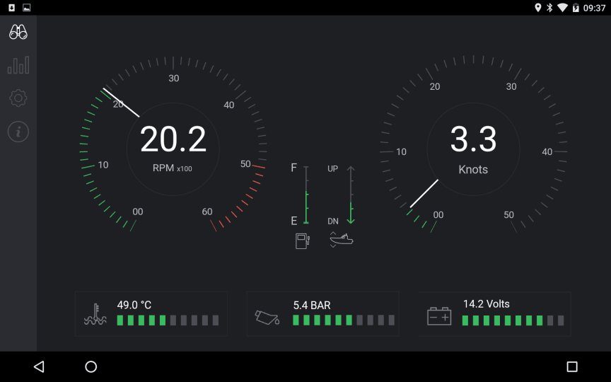 OutboardView Screen Shot with engine data