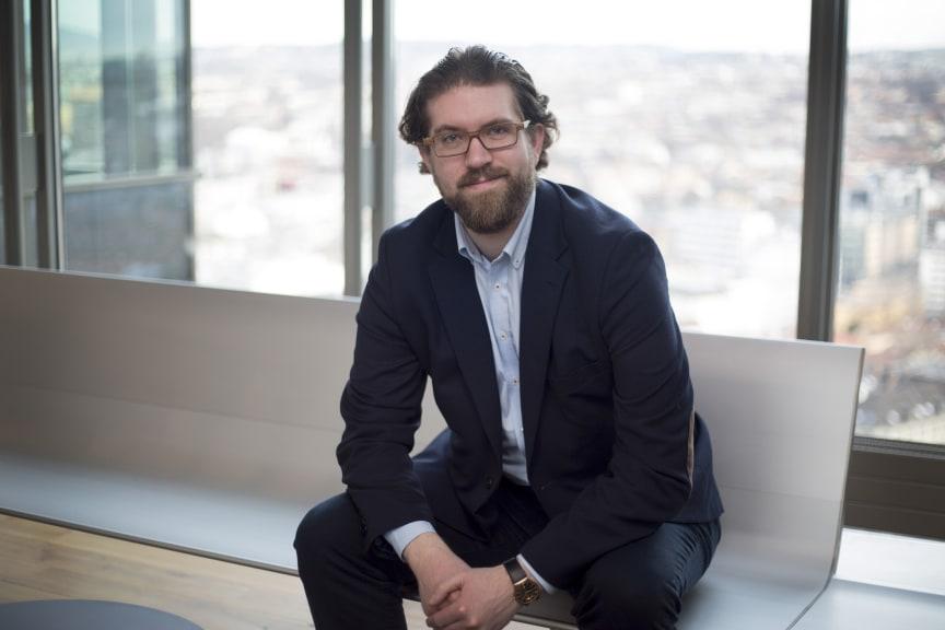 I FRONT. Scott Leaman fra Sopra Steria er en av Europas fremste eksperter på utvidet virkelighet.