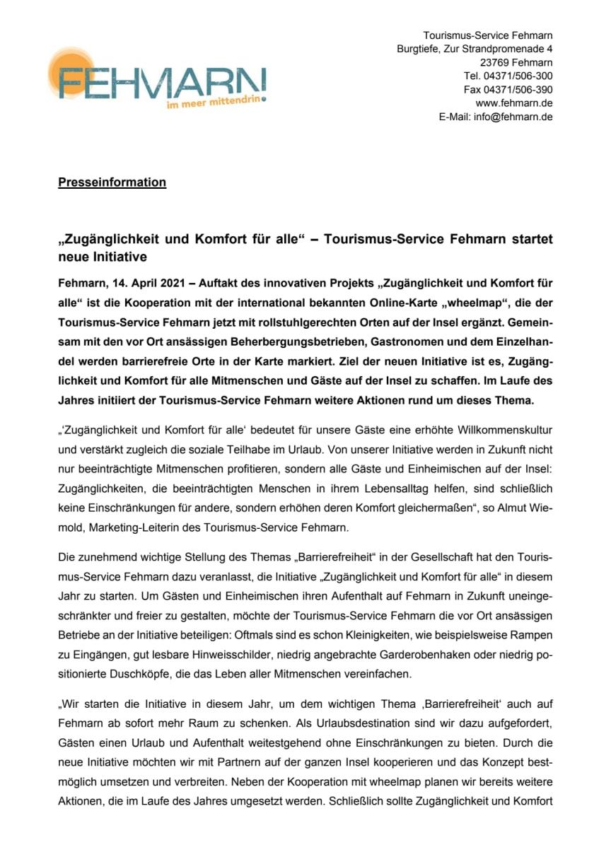 Pressemitteilung_Tourismus-Service Fehmarn_Zugänglichkeit & Komfort für alle_wheelmap.pdf