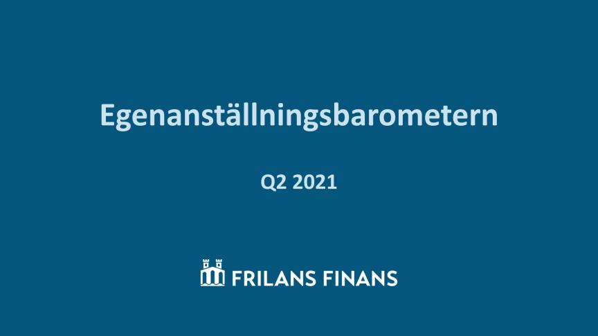 Egenanställningsbarometern Q2-2021