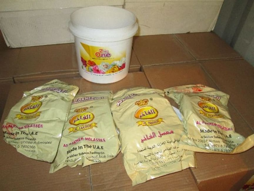 Op Majestic tobacco hidden in bathroom fragance tubs NW02/16