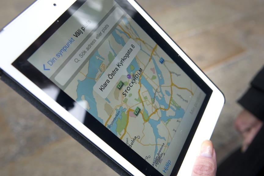 Möjlighet att märka ut felanmälan via karta i appen