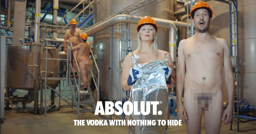 Produktion bei Absolut. The Vodka with nothing to hide