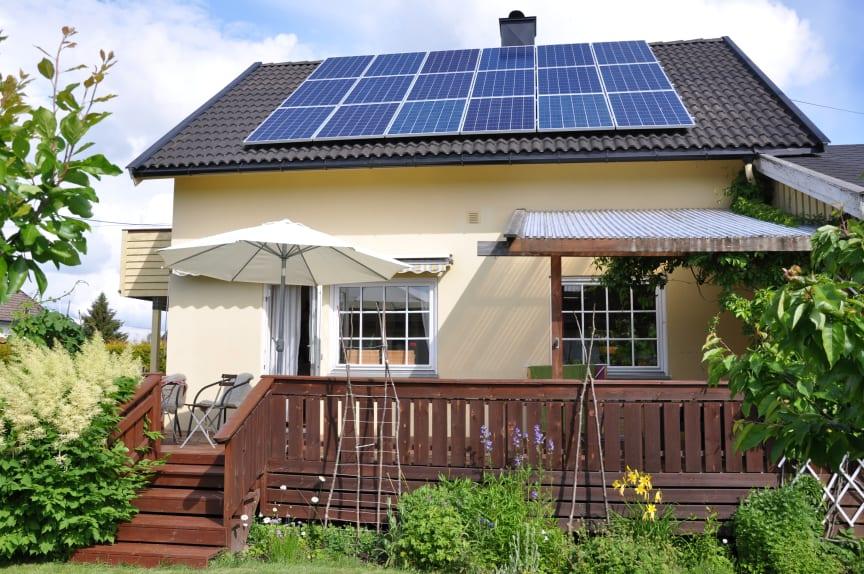 Bolig solceller