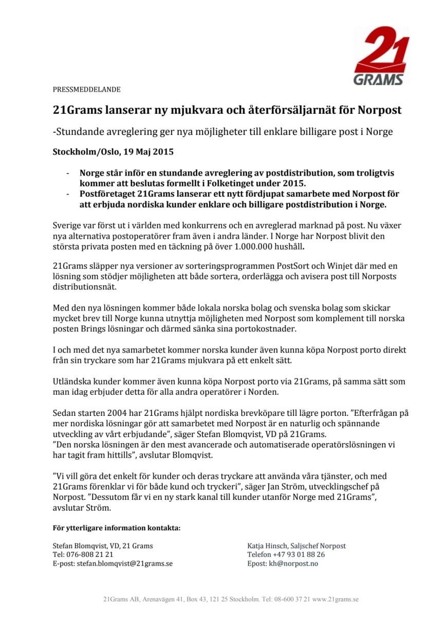 Stundande avreglering ger nya möjligheter till enklare billigare post i Norge