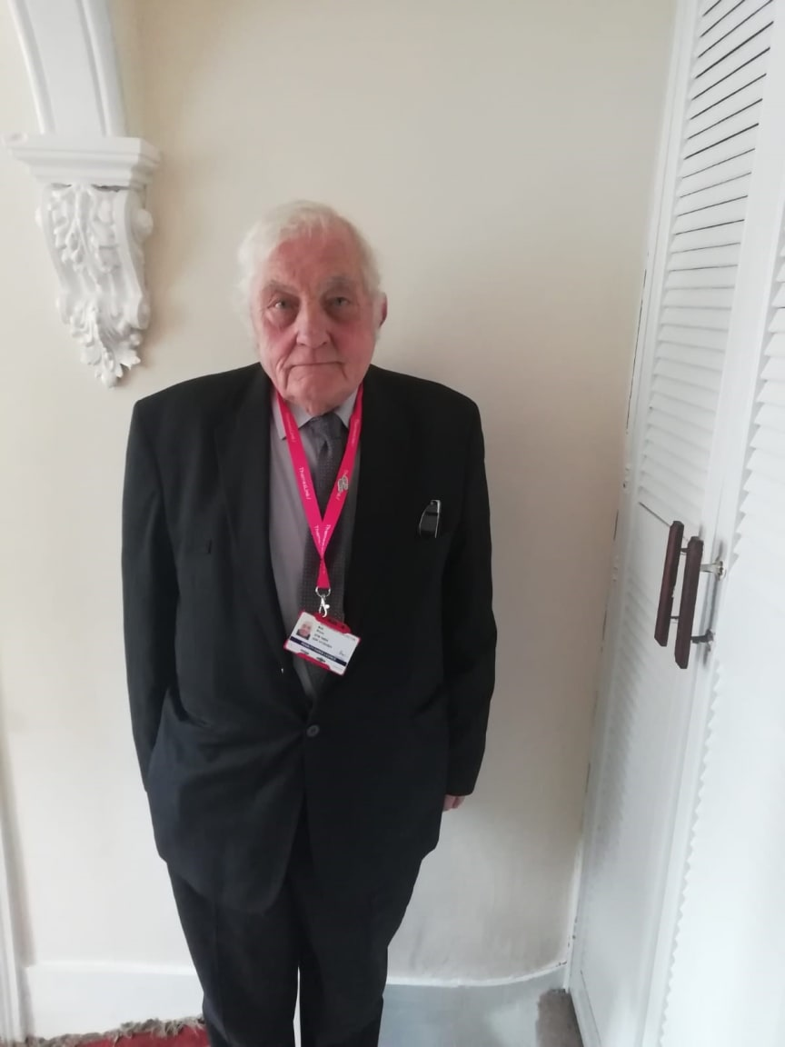 Bob Bryce is thought to be the UK's oldest apprentice